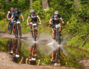 Expert Race Lead Riders at Lake Helane
