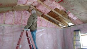 Seeley Cabin insulation installed